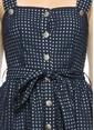 Beymen Club Askılı Kareli Midi Boy Elbise Lacivert